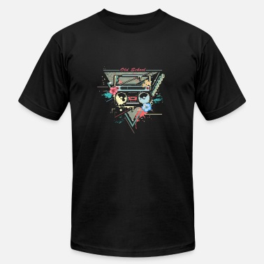 80s Graffiti Ghettoblaster retro graffiti - Men's  Jersey T-Shirt