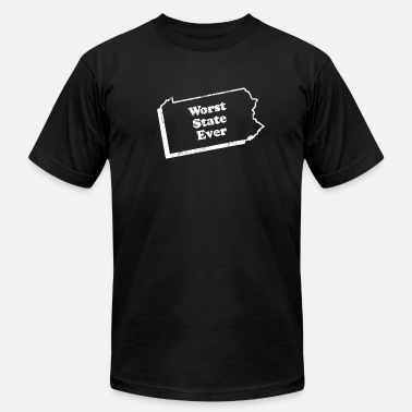 Worst State PENNSYLVANIA - WORST STATE EVER - Men's Jersey T-Shirt