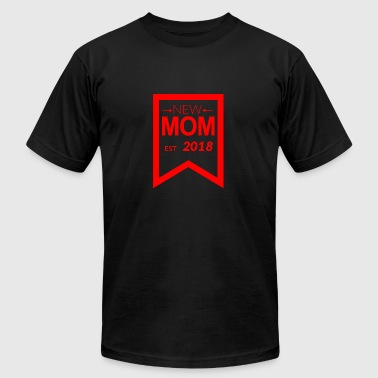 Red Heroin GIFT - NEW MOM EST 2018 5 RED - Men's Fine Jersey T-Shirt