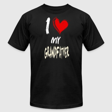 I Love Grandfather I love my GRANDFATHER - Men's Fine Jersey T-Shirt