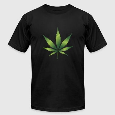 Cannabis Hemp Leaf 420 Marijuana Weed Ganja - Men's Fine Jersey T-Shirt