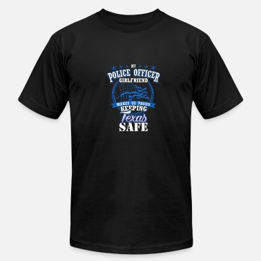 Police Girlfriend Texas Police Officer Girlfriend GF Family Gift - Men's Fine Jersey T-Shirt