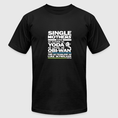 Single Mother Single mothers - They are as clever as yoda - Men's Fine Jersey T-Shirt