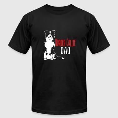 Border Collie Dad - Men's Fine Jersey T-Shirt