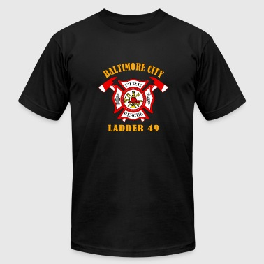 Baltimore City FIRE RESCUE BALTIMORE CITY - Men's Fine Jersey T-Shirt