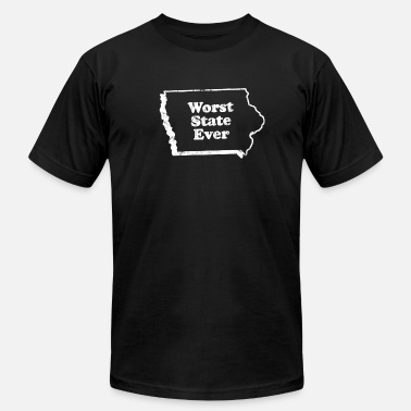 Worst State Ever IOWA - WORST STATE EVER - Men's  Jersey T-Shirt