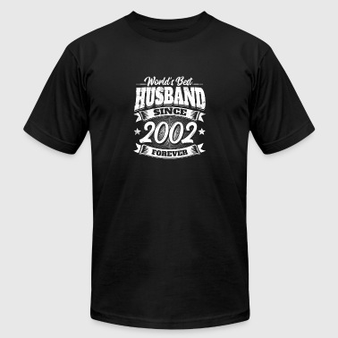 Married Since 2002 Wedding Anniversary Married 2002 Gift Husband - Men's Fine Jersey T-Shirt