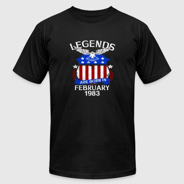 1983 Bday Legends Are Born In February 1983 - Men's Fine Jersey T-Shirt