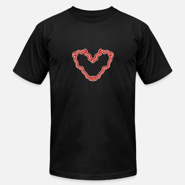 Fry Bacon Heart - Gift - Shirt - Men's  Jersey T-Shirt