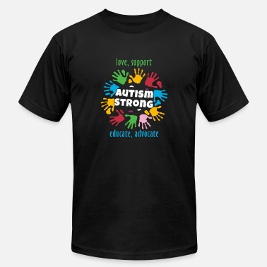 Autism Awareness Advocate Autism Awareness Month - Love Support Educate Advocate - Men's Fine Jersey T-Shirt