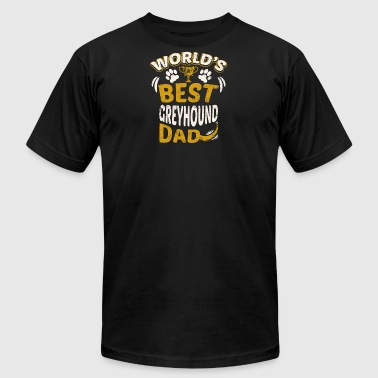World's Best Greyhound Dad - Men's Fine Jersey T-Shirt