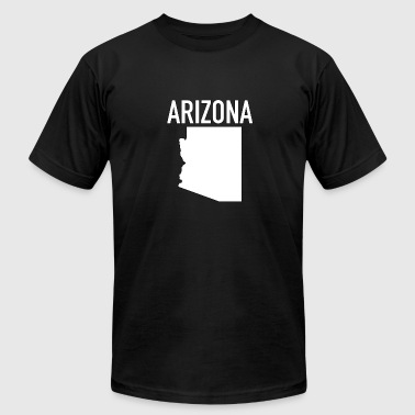 Arizona State Map Arizona Map - Arizona - Total Basics - Men's Fine Jersey T-Shirt