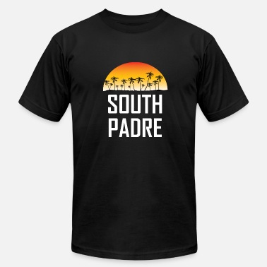 South Island South Padre Island Sunset Palm Trees Beach - Men's  Jersey T-Shirt