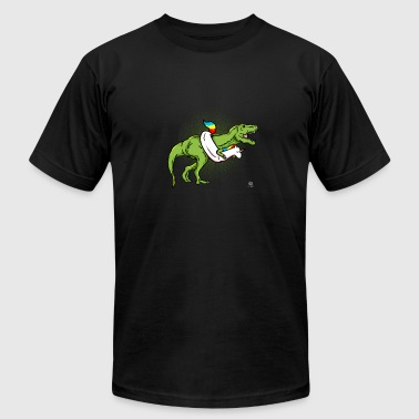 Funny Unicorn Funny T-Rex Unicorn - Men's Fine Jersey T-Shirt