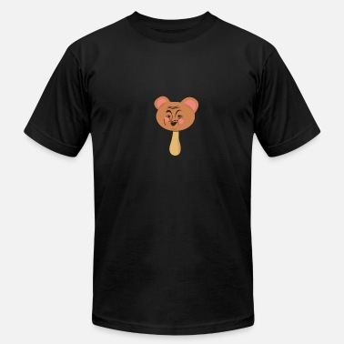 Bear Face Kids Popsicle bear face laughing funny kids gift idea - Men's Fine Jersey T-Shirt