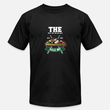 Cue The Most Fun You Can Have With Your Balls Out - Men's Fine Jersey T-Shirt