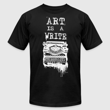 Art is a Write (White Print) - Men's Fine Jersey T-Shirt