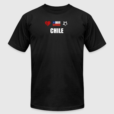 Chile Supporter Chile Football Shirt - Chile Soccer Jersey - Men's Fine Jersey T-Shirt