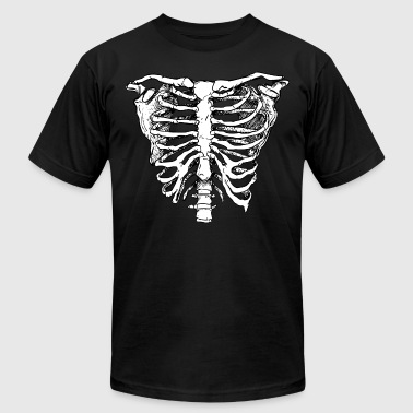 WHITE CREEPY RIB CAGE - Men's Fine Jersey T-Shirt