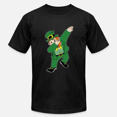 Cool Leprechaun Dabbin Leprechaun - Men's  Jersey T-Shirt
