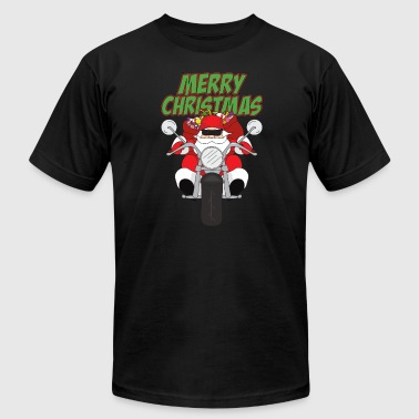 Motorcycle Xmas Funny Santa Claus Xmas Merry Christmas Motorcycle - Men's Fine Jersey T-Shirt