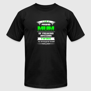 Twins - Proud mum of awesome twins t-shirt - Men's Fine Jersey T-Shirt