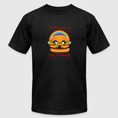 Cheeseburger Cheeseburgers Are my family - Men's Fine Jersey T-Shirt