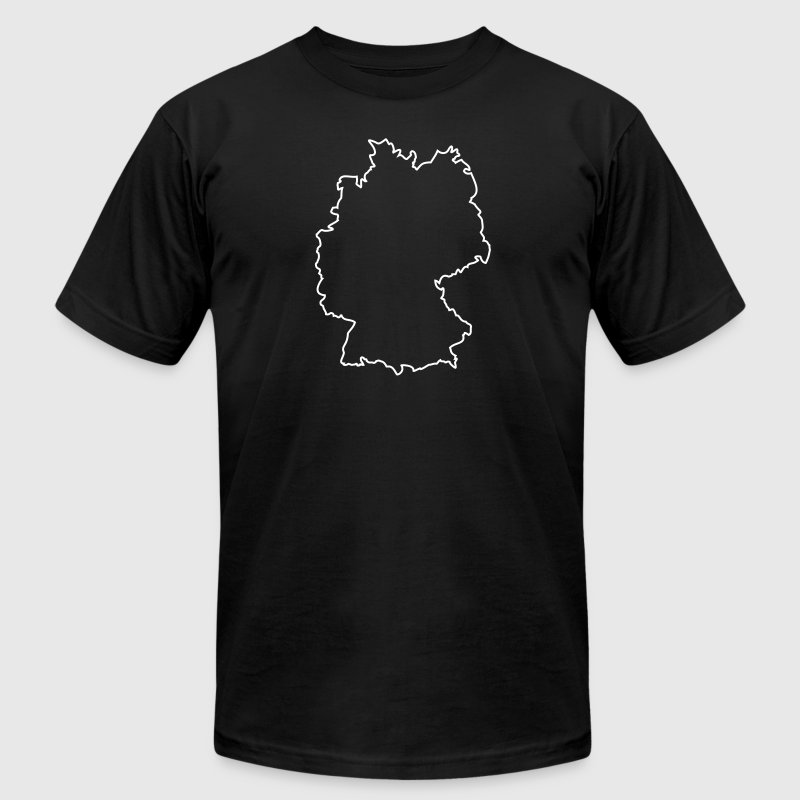 germany outline - Men's Fine Jersey T-Shirt