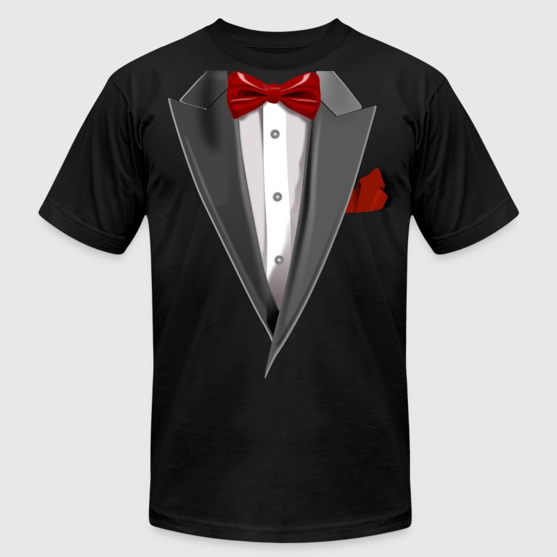 Tuxedo Tie Designs Tux red - Men's Fine Jersey T-Shirt