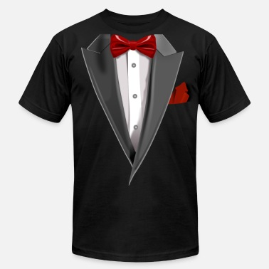 Tux Tuxedo Tie Designs Tux red - Men's  Jersey T-Shirt