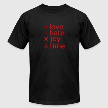 Subtraction New Design Add LOVE Subtract HATE Multiply JOY - Men's Fine Jersey T-Shirt