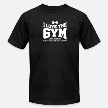 Overweight I love the gym. Just kidding, I love pizza and ... - Men's  Jersey T-Shirt