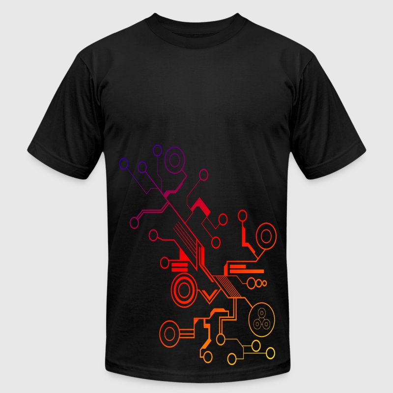 Colorful Circuit LARGE PRINT - Men's Fine Jersey T-Shirt