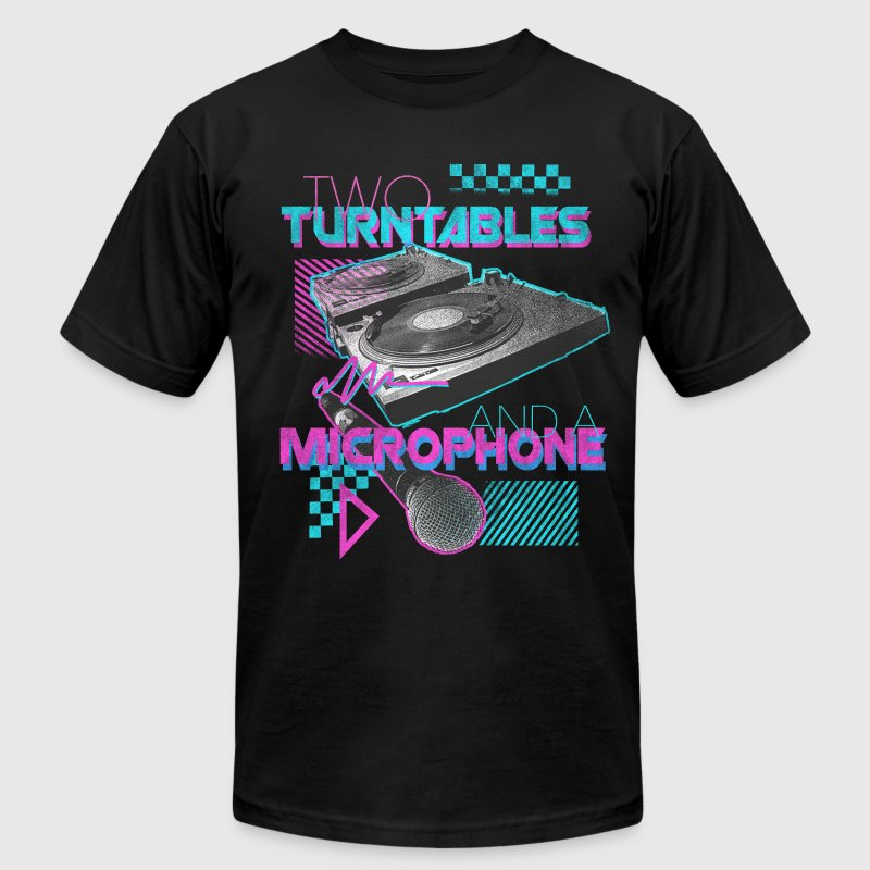 TWO TURNTABLES - Men's Fine Jersey T-Shirt