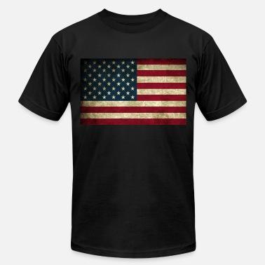 e022ff28d33ba6 American Flag Grunge American Flag - Men's Jersey T-Shirt