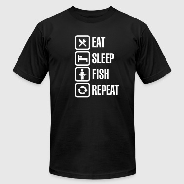Eat -  sleep -fish - repeat - Men's Fine Jersey T-Shirt