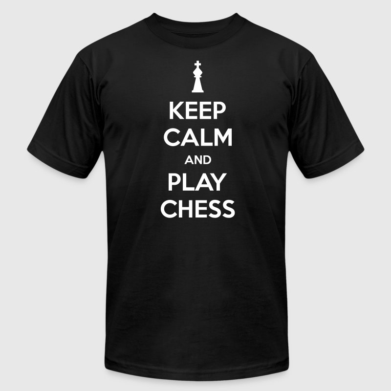 keep calm and play chess - Men's Fine Jersey T-Shirt