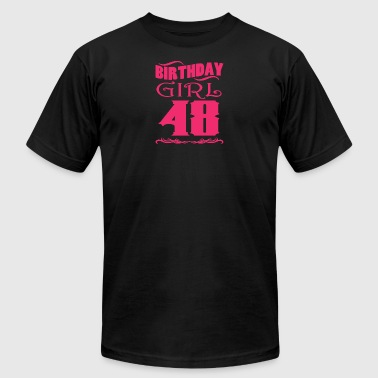 48 Year Old Birthday Girl 48 years old - Men's Fine Jersey T-Shirt
