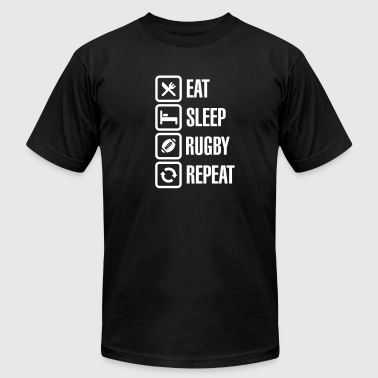 Eat Sleep Rugby  Repeat - Men's Fine Jersey T-Shirt