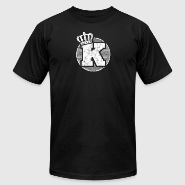 Crowned Alphabet Name Letter K Character Case Alphabetical Crown - Men's Fine Jersey T-Shirt