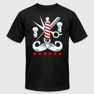Scissors Barber Barbers Design Barber Pole Scissors Clippers Gift - Men's Fine Jersey T-Shirt