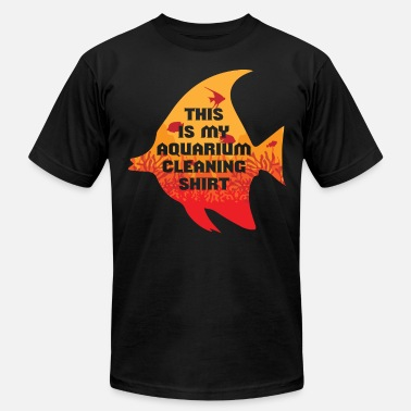 Discus Fish FISH: This is my aquarium cleaning Shirt fish tank - Men's Fine Jersey T-Shirt