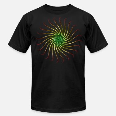 1fac6a9f43f1 Psychedelic Reggae Music Energy Spiral Rastafari Jah Jamaica - Men's  Jersey T