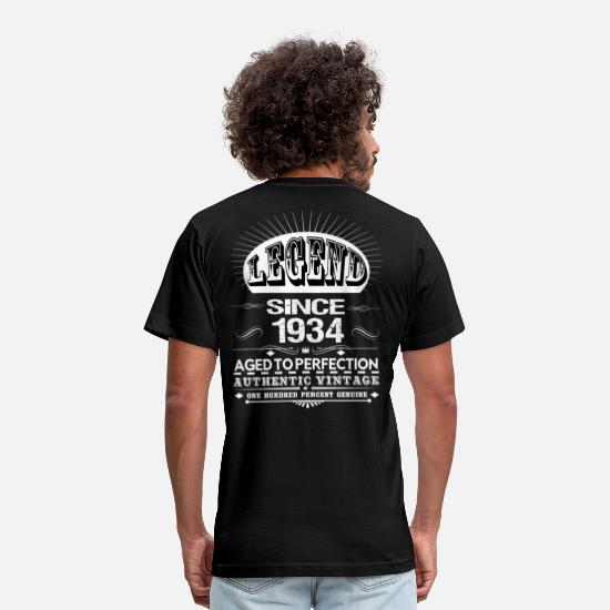 1934 All Original Parts T-Shirts - LEGEND SINCE 1934 - Men's Jersey T-Shirt black