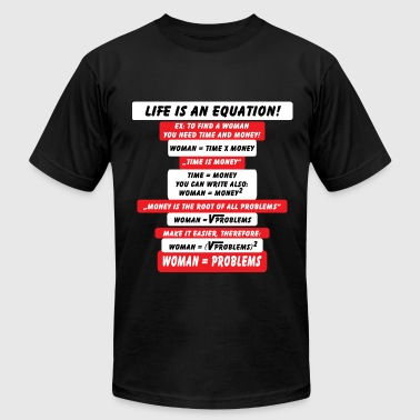 Life is an Equation - Men's Fine Jersey T-Shirt