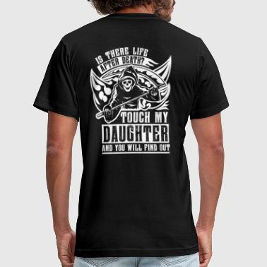 Grim Reaper Is there life after death? Touch my daughter and - Men's Fine Jersey T-Shirt