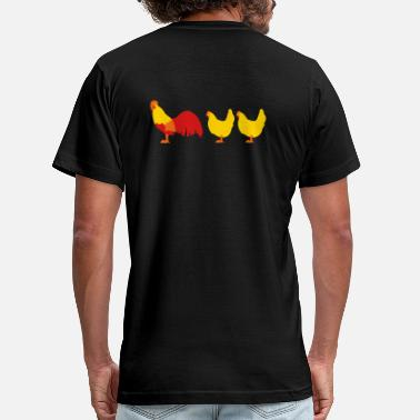 Vector Chicken Rooster and chicken - Men's  Jersey T-Shirt