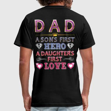 DAD FIRST HERO&FIRST LOVE - Men's Fine Jersey T-Shirt