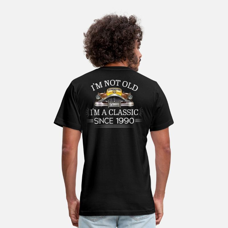 Born In 1990 T-Shirts - Classic since 1990 - Men's Jersey T-Shirt black