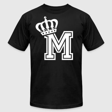 Name: Letter M Character M Case M Alphabetical M - Men's T-Shirt by American Apparel